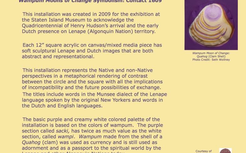 """Wampum Moons Of Change"" Art Installation By Multi-Media Artist Nadema Agard (Sept Thru Oct) • Reception Sunday September 6th, 5pm"