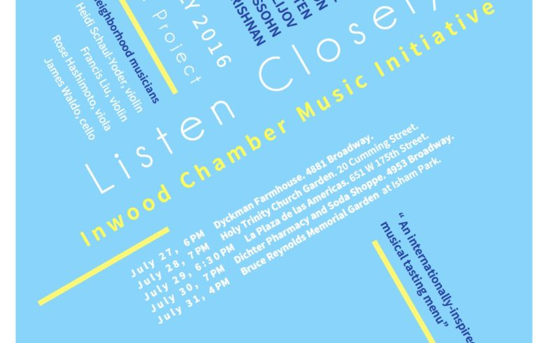 Listen Closely Concert Moved To Dichter Pharmacy • 4pm