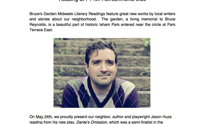 Bruce's Garden Summer Reading Series • Wednesday May 24th @6:30