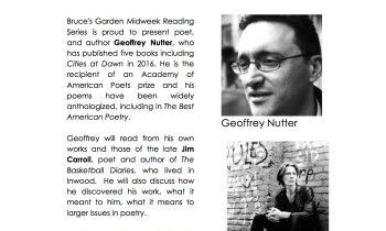 Midweek Literary Reading Series • Wednesday June 14 @6:30pm