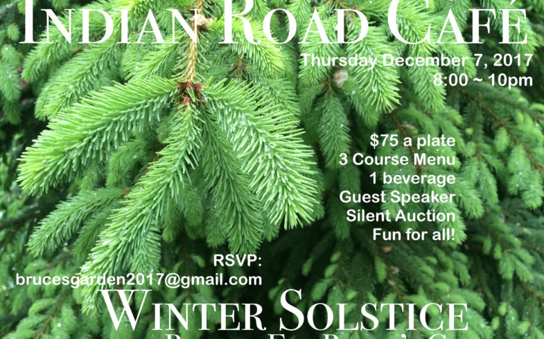 Winter Solstice Benefit for Bruce's Garden