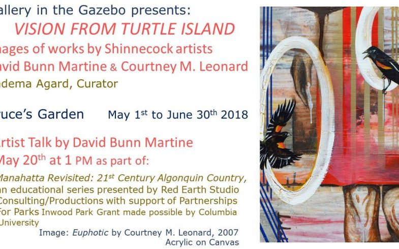 •• POSTPONED to MAY 10th •• Gallery in the Gazebo Opening: VISIONS FROM TURTLE ISLAND