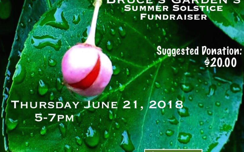 * A TASTE OF * INWOOD Bruce's Garden's Summer Solstice * FUNDRAISER * Thursday June 21 @5pm