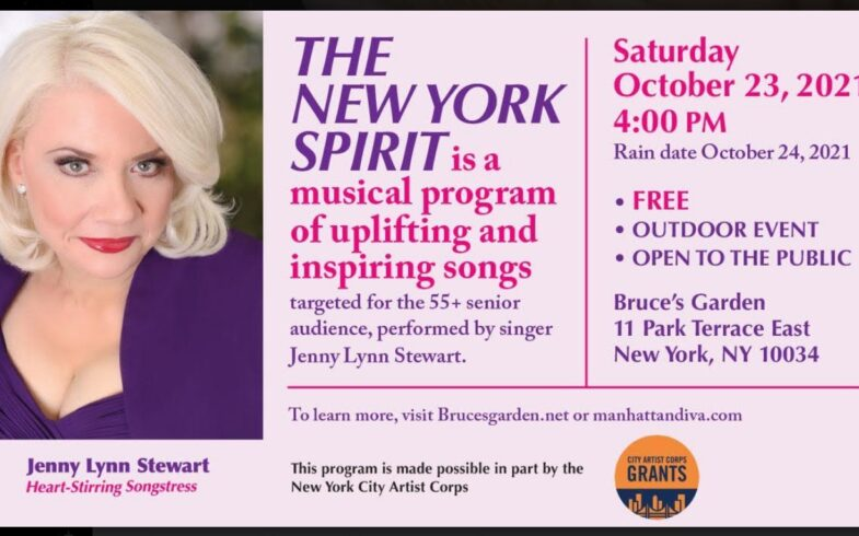 Songstress Jenny Lynn Stewart • The New York Spirit • Saturday October 23 @4pm